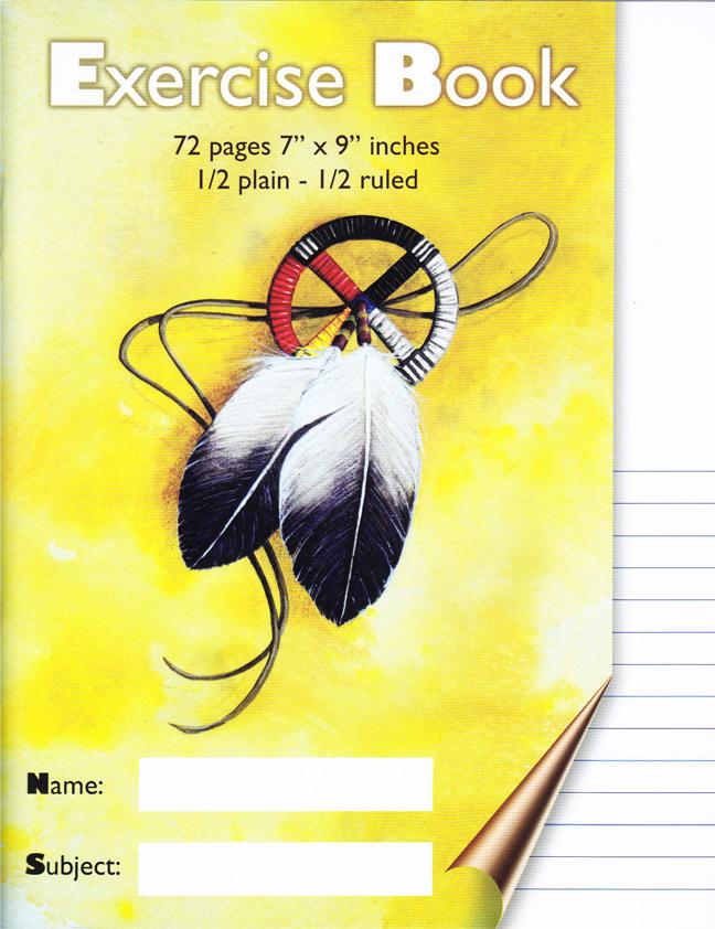 Exercise Book - 1/2 Plain - 1/2 Ruled