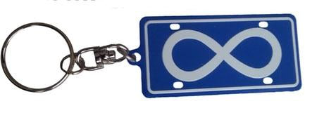 Rectangle Metis Keychain