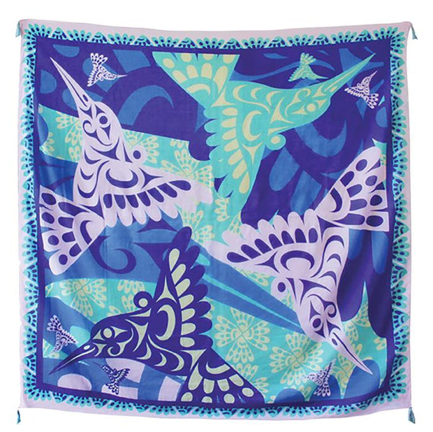 Tapestry Scarf - Humming Birds
