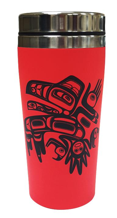 Matte Mug - Red Chilkat Whale