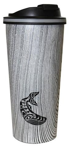 Wood Grain Finish Travel Mug - Humpback Whale