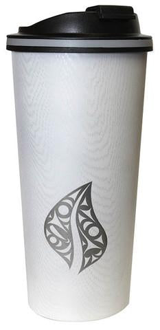 Wood Grain Finish Travel Mug - Leaf of Life