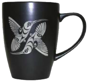 Black Hummingbird Mug