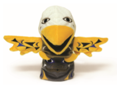 Sky the eagle Bear Totem - Hand Puppet