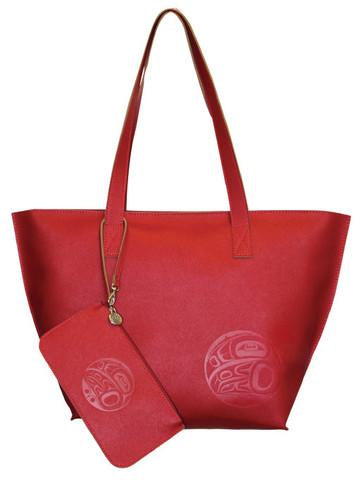 Tote Bag & Wristlet - Red