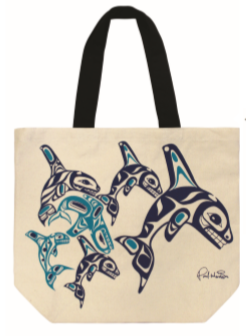 Canvas Tote Bag - Whale