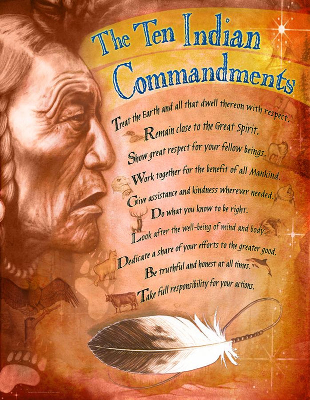 Giant Inspirational Posters - 10 Commandments