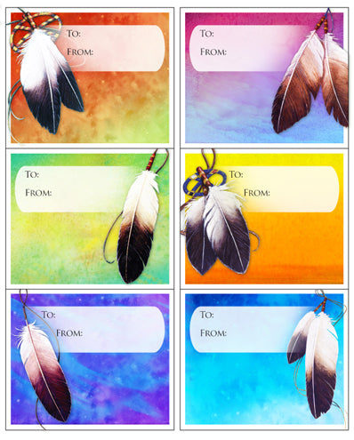 Gift Tags (Feather)