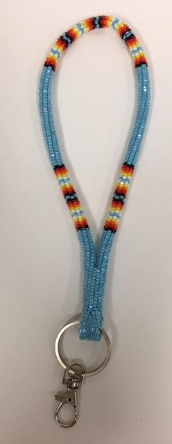 Beaded Wrist Lanyards Or Keychain - Teal