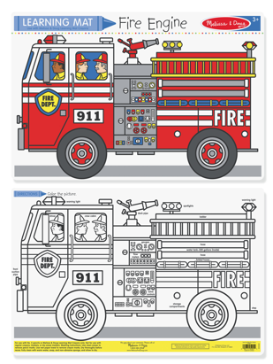 Fire Engine Color A Mat