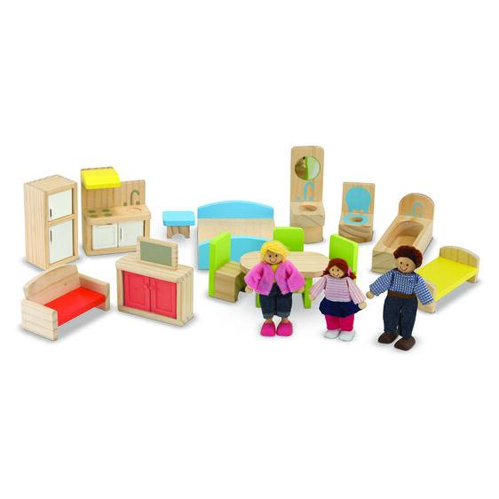Dollhouse and Furniture Set