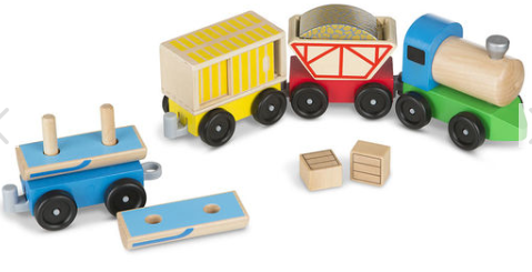 Classic Wooden Toy Cargo Train