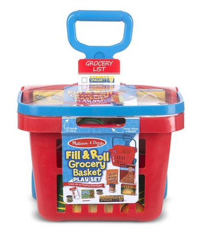 Fill and Roll Grocery Basket Play Set