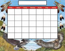 native decorative calendar
