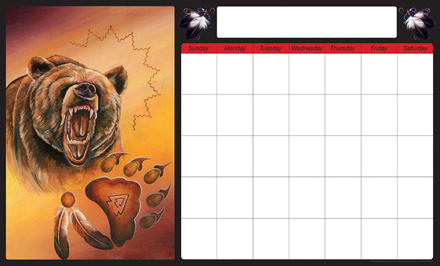 Monthly Calendar (Bear)