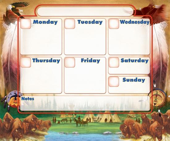 Native Decorative Weekly Calendar