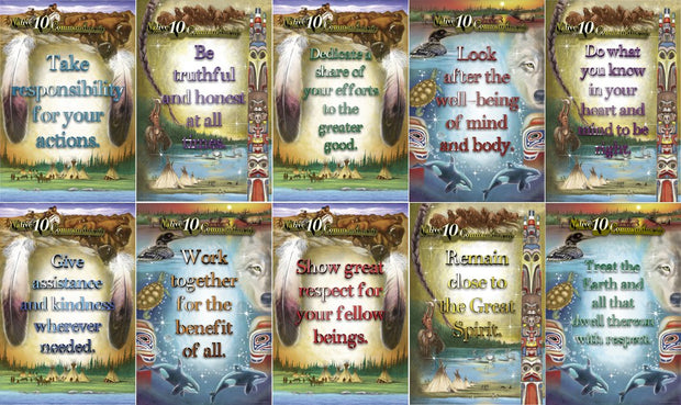 Native 10 Commandments Poster Set