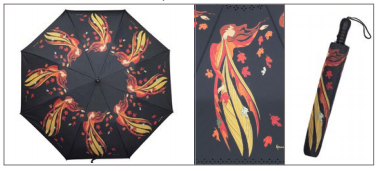Leaf Dancer Collapsible Umbrella