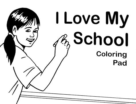Large Coloring Story Pad