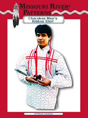 Cherokee Man's Ribbon Shirt Pattern