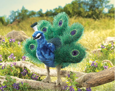 Hand Puppet - Small Peacock