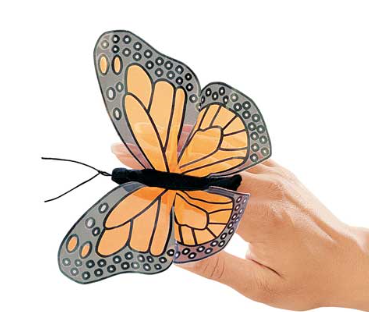 Hand Puppet - Mini Monarch Butterfly