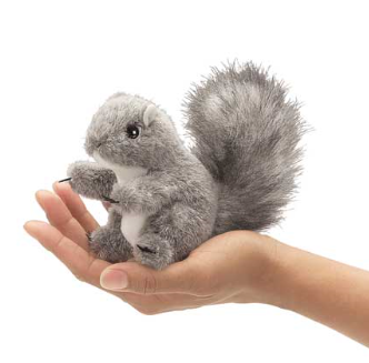 Hand Puppet - Mini Grey Squirrel