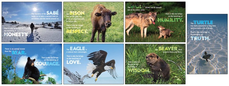 Animal Baby Seven Teaching Poster Set