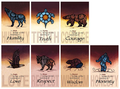 Icon Seven Teachings poster set