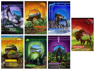 Boarder Seven Teachings Poster Set