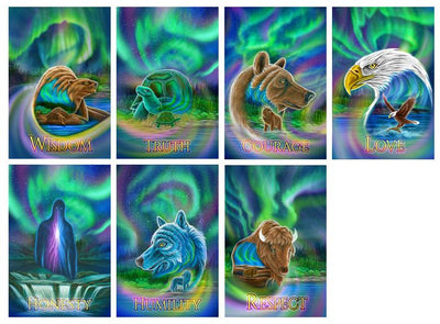 Northern Lights Seven Teachings Poster Set