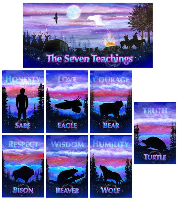 Seven Teachings Animals Poster Set