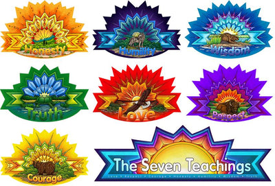 Star Design Seven Teachings Poster Set