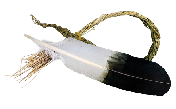 Smudge Feather (Sweetgrass)