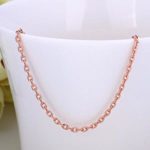 18K Rose Gold Plated Link Chain 18
