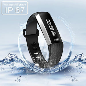 Bluetooth Smart Bracelet Waterproof Fitness Tracker with Heart Rate Monitor