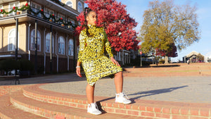 Lime Leopard Dress