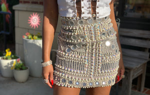 DIAMONDS AND PEARLS SKIRT