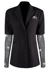 DIAMOND SLEEVE BLAZER