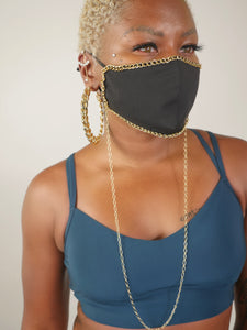 Black And Gold Chain Mask