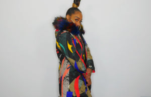 WICKED MULTI COLOR HOODED JACKET