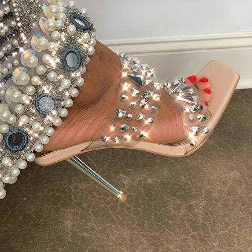 CLEAR CUT DIAMOND HEELS