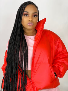 Burst Your Bubble Jacket - Cherry Red