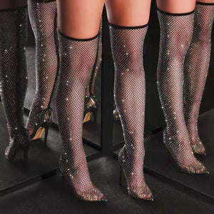 SHINE BRIGHT DIAMOND THIGH HIGHS