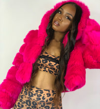 Load image into Gallery viewer, Pretty In Pink Faux Fur Jacket