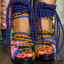 Load image into Gallery viewer, Multi Colored Bungee Heels