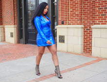 Load image into Gallery viewer, ELECTRIC BLUE BLAZER DRESS