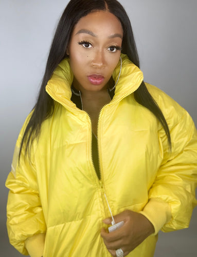 Burst Your Bubble Jacket - Sunshine Yellow