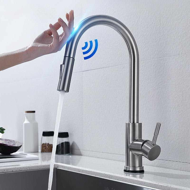 Touch control kitchen faucet with sensor(Three-year warranty)