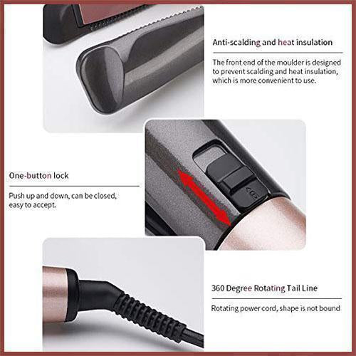 (Last Day Promotion 45% off !!!)Automatic Release Negative Ions 2 in 1 Hair Curler and Straightener